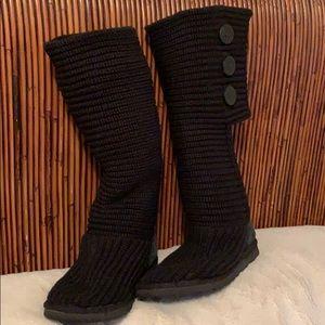 UGG black knit boot